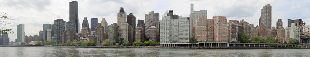 Manhattan, view from the Roosevelt island (NY)